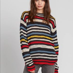New Volcom Bowrain Striped Sweater size Large